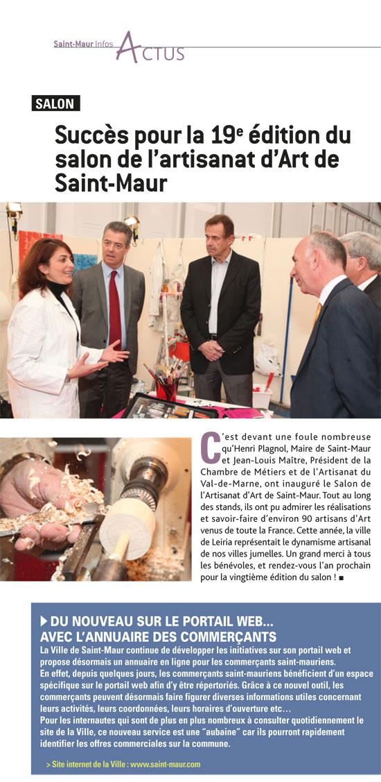 Atelier MDL - article de presse - Saint Maur