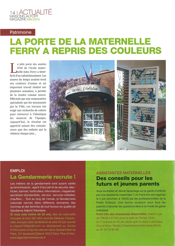 Article Maisons-Alfort